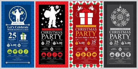 Party de Noël Invitation ensembles de cartes Banque d'images - 36760220