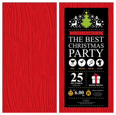 Christmas party invitation card royalty free cliparts vectors and christmas party invitation card vector stopboris Gallery