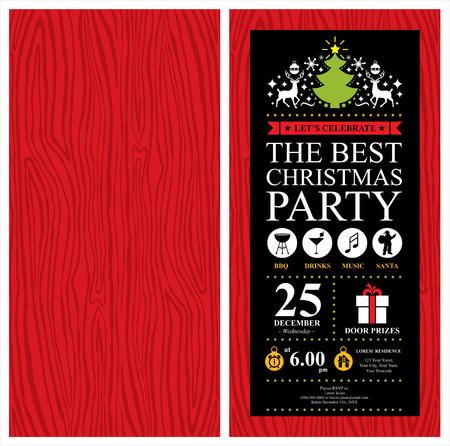 Fête de Noël Carte d'invitation Banque d'images - 36760224