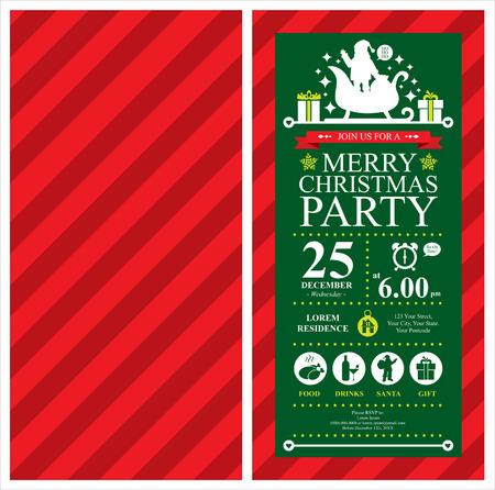 Invitation Noël Santa Claus carte Banque d'images - 36924746