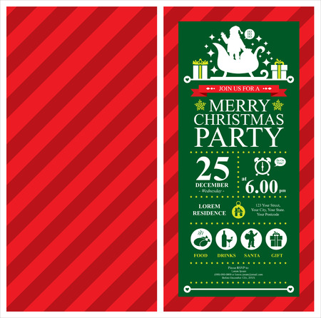 Christmas Santa Claus Invitation Card