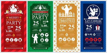 Party de Noël Invitation ensembles de cartes Banque d'images - 37146265