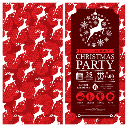 Christmas Reindeer Invitation Card