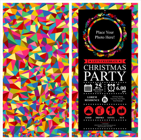 greeting card invitation wallpaper: Christmas Party Invitation Card