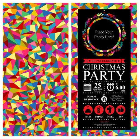 Fête de Noël Carte d'invitation Banque d'images - 37725693