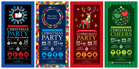 christmas photo frame: Christmas Party Invitation Card Sets