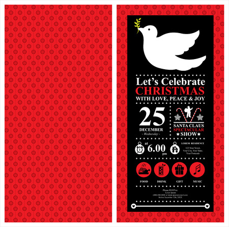 shopping mall signage: Christmas Dove Invitation card