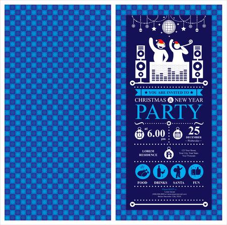 festa: Cartão do convite da festa de Natal