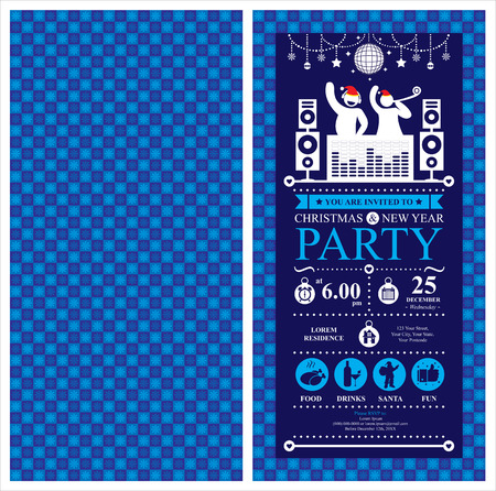 new year party: Christmas Party Invitation Card