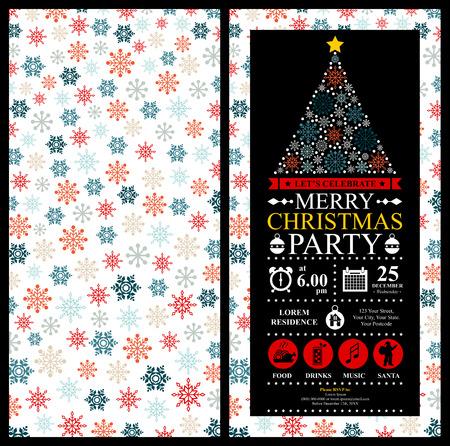 Fête de Noël Carte d'invitation Banque d'images - 39181637