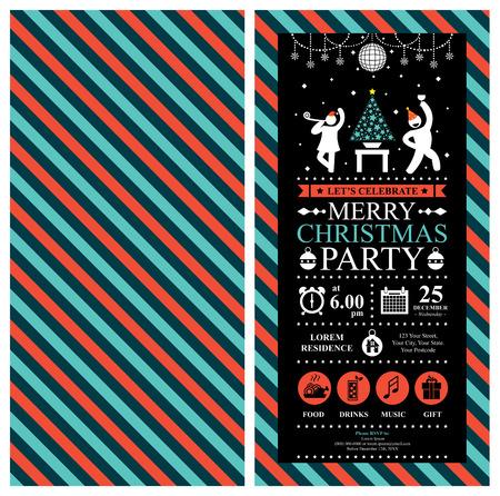 mingle: Christmas Party Invitation Card