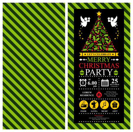 shopping mall signage: Christmas Party Invitation Card