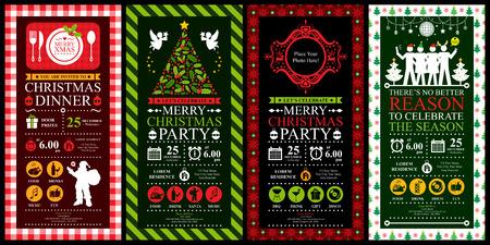 Invitation de fête de Noël jeux de cartes Banque d'images - 39093953