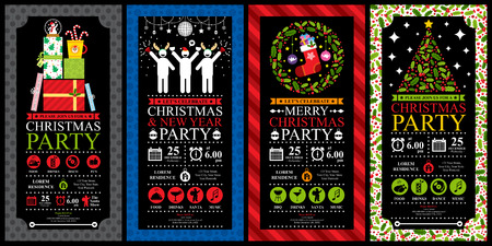 Christmas Party Invitation Card Sets