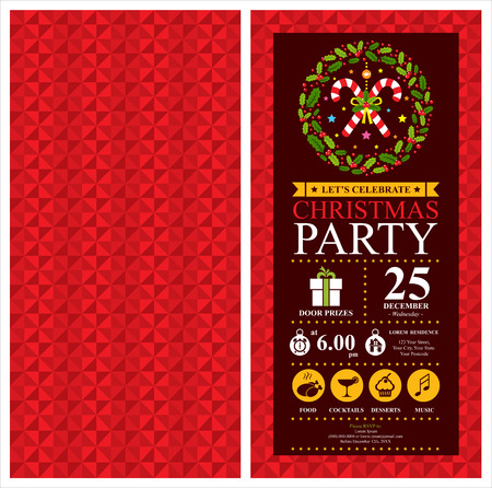 christmas dinner party: Christmas Party Invitation Card