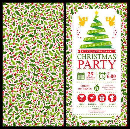 Christmas Party Invitation Card
