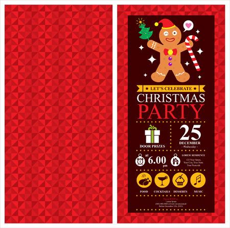 Christmas party invitation card Illusztráció