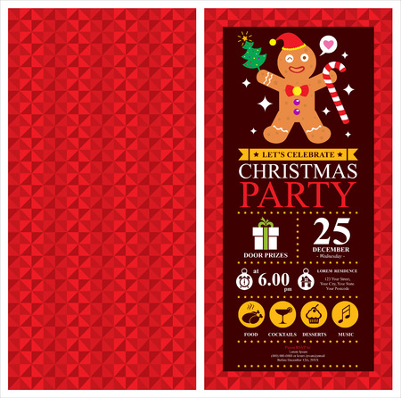 Christmas party invitation card Illustration