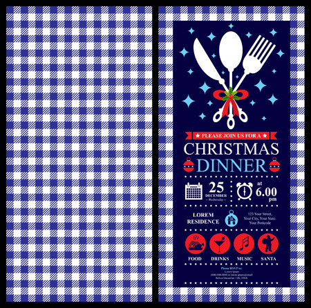 Christmas party invitation card Stock Illustratie