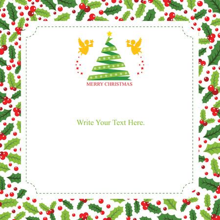 Christmas card template Illusztráció