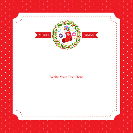 christmas dinner party: Christmas card template Illustration