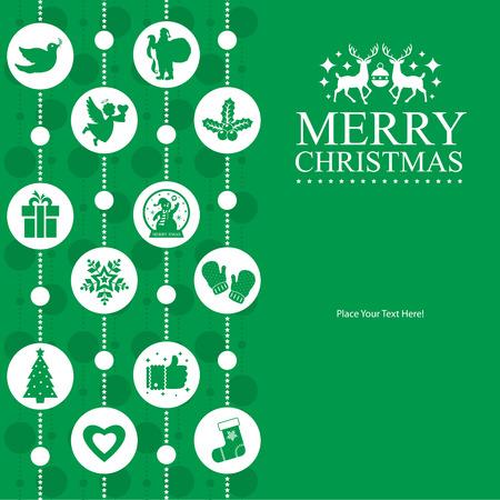 deer in heart: Christmas Card