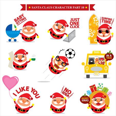 Santa Claus character sets