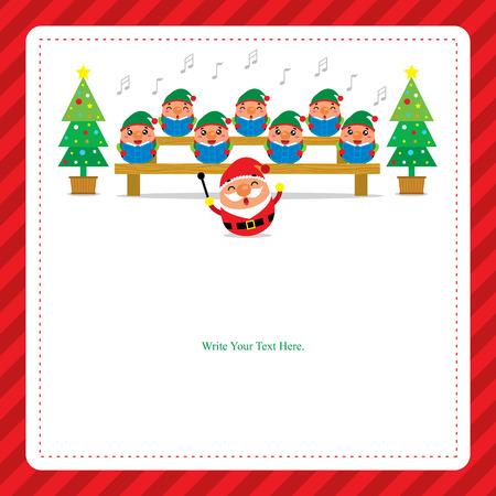 a christmas carol: Christmas Card with Santa Claus