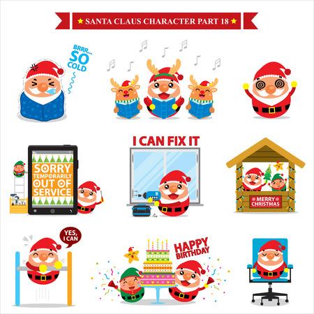 chat window: Santa Claus character sets