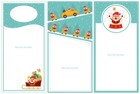 Christmas invitation card sets Illustration