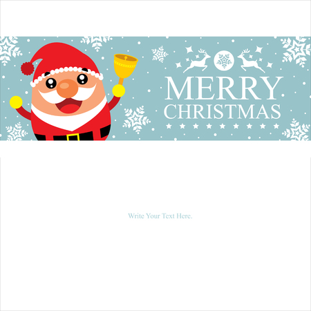 wish list: Christmas card template with Santa Claus