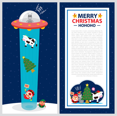 kidnapping: Christmas card template Illustration
