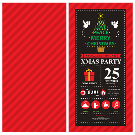 Christmas card invitation Illustration