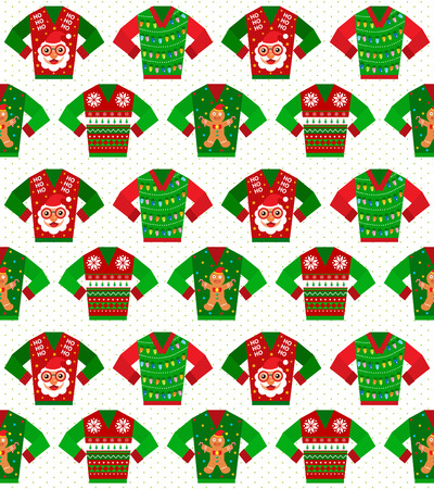Christmas sweater seamless Vectores