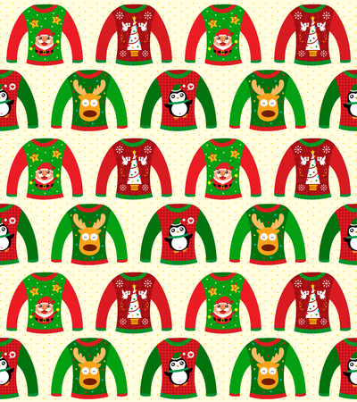 Christmas sweater seamless Ilustrace