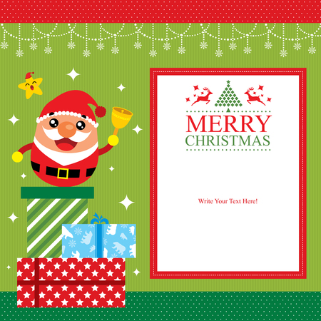 messege: Christmas card template Illustration