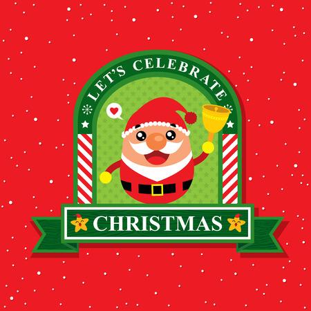 christmas card: Christmas card with Santa Claus Illustration