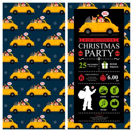 car ornament: Christmas invitation card