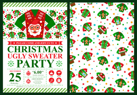 sueter: Fiesta de Navidad Tarjeta de Invitación
