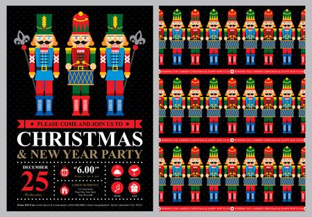 Uitnodiging Kerstkaart Stock Illustratie