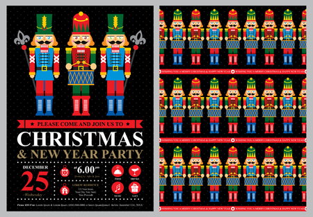 Weihnachtskarten-Einladung Standard-Bild - 49109630