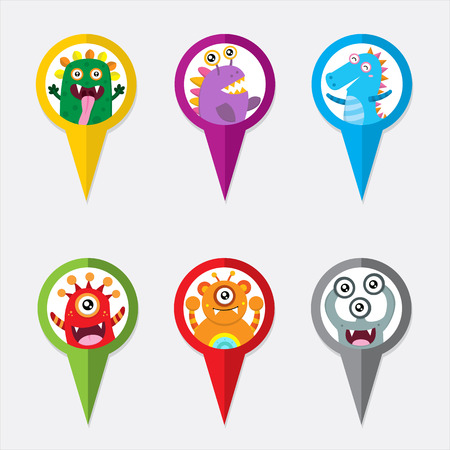 monsters house: Pin Map Monsters Pointer Icon