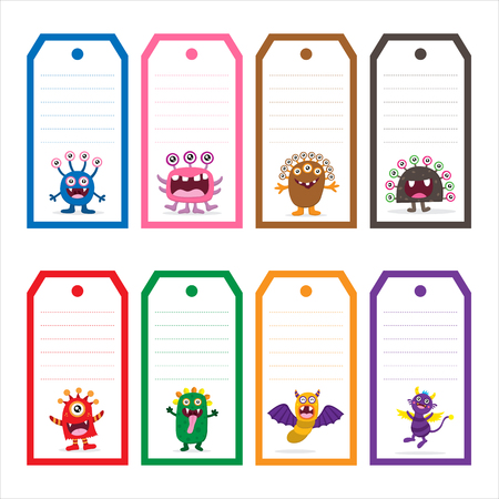 Cute Monster tag Card