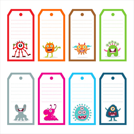 kids background: Cute Monster tag Card