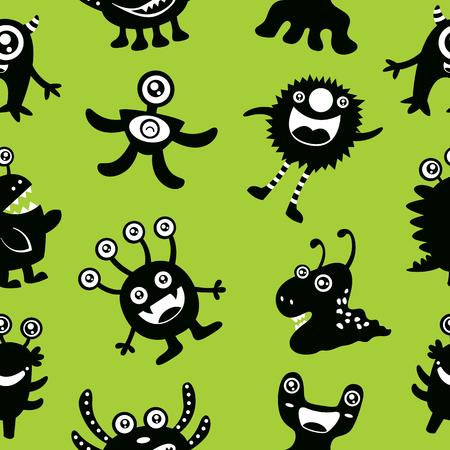 party cartoon: Cute Monster Seamless