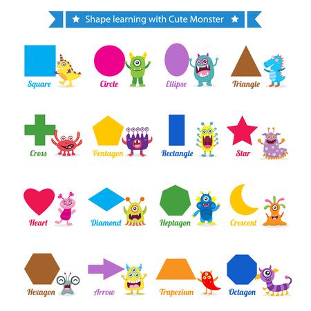forme: formes d'apprentissage avec des monstres mignons