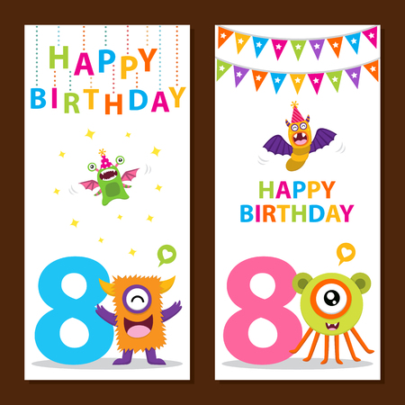 Cute Monster Birthday Card