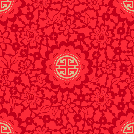 lucky: Chinese New Year Seamless