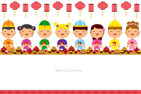 lantern festival: Chinese New Year Template