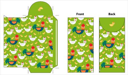 envelopes: rooster envelope